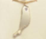 Jewellery Commission. Testimonial page. Gold handmade pendant set with one diamond. The island of fuerteventura.
