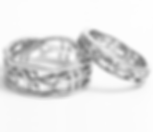 Jewellery Commission. Testimonial page. Cad designed bespoke matching wedding rings. Platinum rings made especially for our customers.