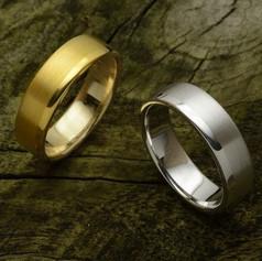 Textured wedding bands