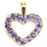 Jewellery Commission. Handmade sapphire heart shaped pendant. Gold. Bespoke.