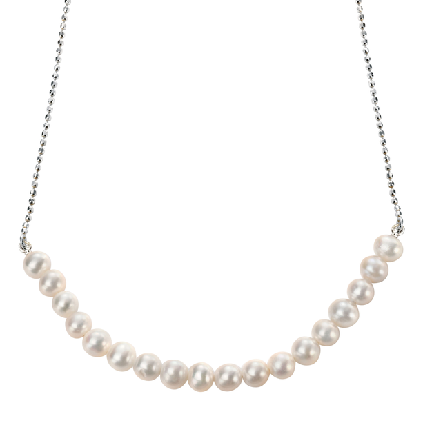 """Fresh Water Pearl Necklace 16 1/2 - 17 3/4"""""""