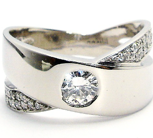 Jewellery Commission. CAD designed diamond set band ring.