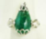 Jewellery Commission. Testimonial page. Cad designed bespoke ring set with emeraldand diamonds. Bespoke ring.