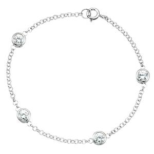 "Silver Delicate Sparkle Bracelet 7 1/2"""