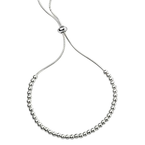 Silver Delicate Adjustable Ball Bracelet