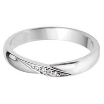 Shaped diamond set wedding bands.