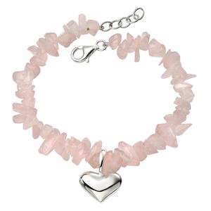 "Rose Quartz Bracelet 7-8"""