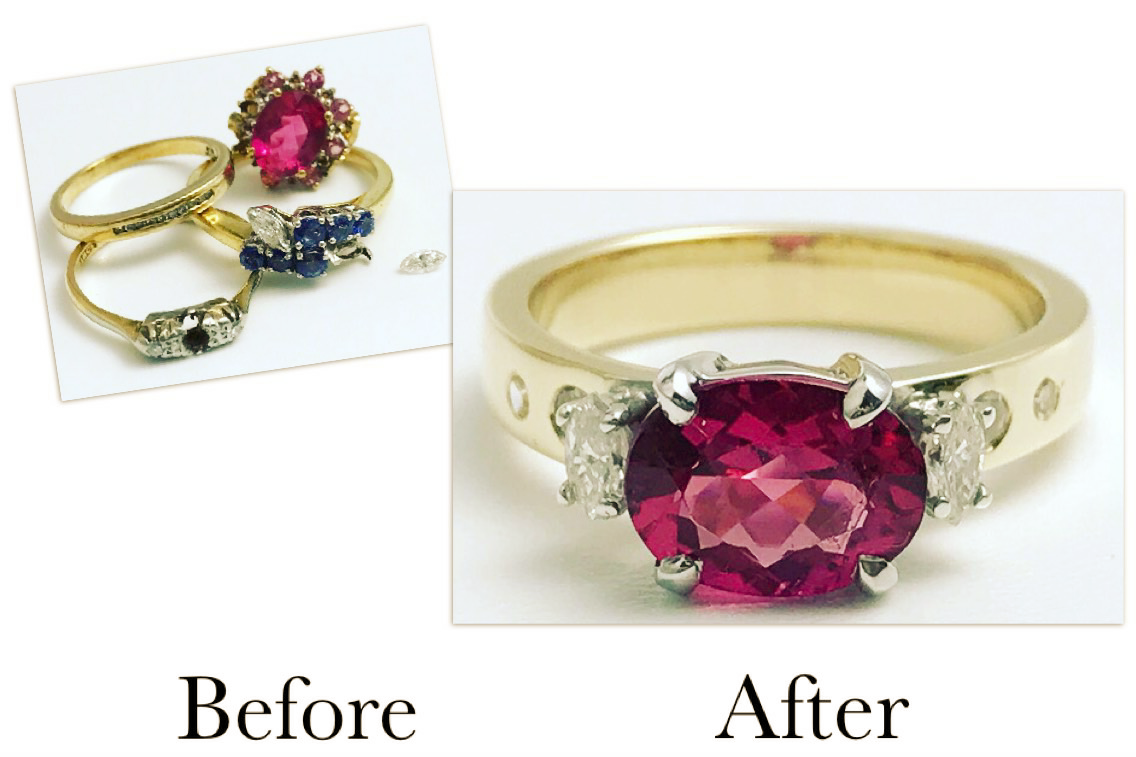 Tourmaline & Diamond Ring