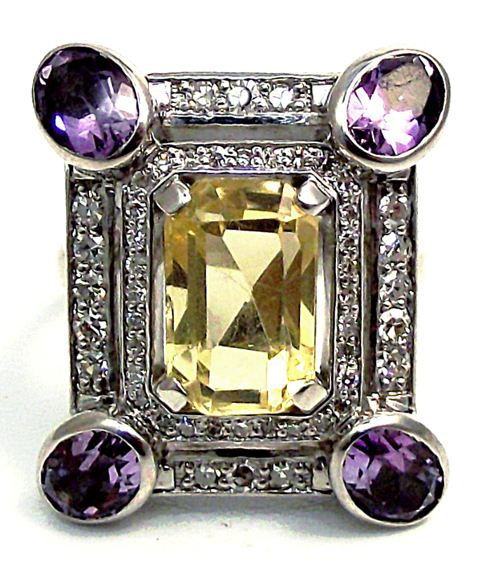 Multi stone cad ring