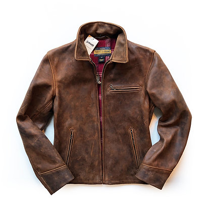 SCHOTT NYC STORM HEAVYWEIGHT OILED NUBUCK JACKET