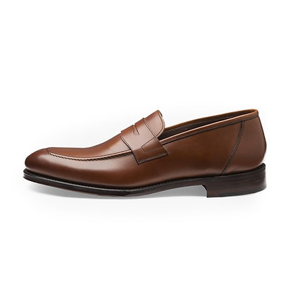LOAKE 1880 ANSON Brown Leather Loafers