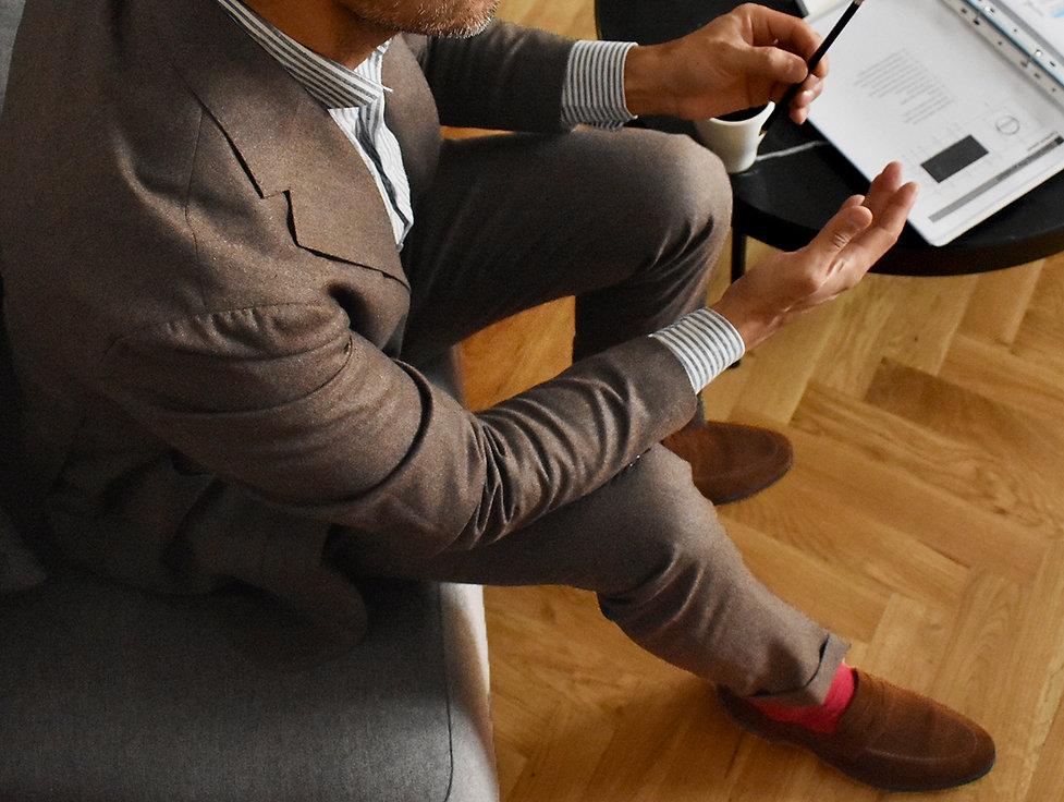 flannel suit linen shirt neapolitan shou