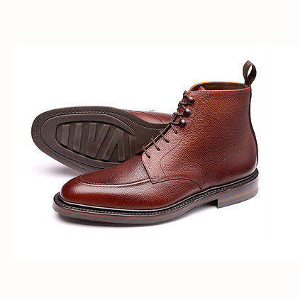 LOAKE 1880 ANGLESEY Pebble Leather Lace up Ankle Boots