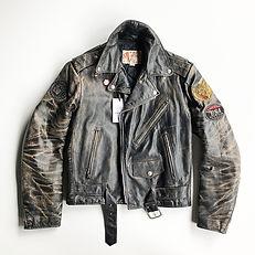 vintage biker leather jacket 1a.jpg