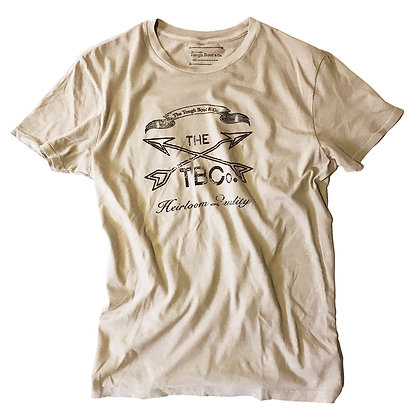 THE TBCo. cross arrows T-shirt in stone