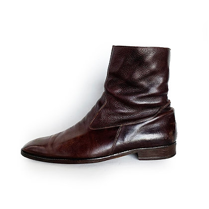 BILLY REID LEATHER ZIP UP BOOTS