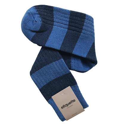 Etiquette Cotton Preppy Men's Socks Royal/Indigo