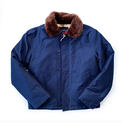 SCHOTT NYC CLASSIC N-1 NAVY DECK JACKET