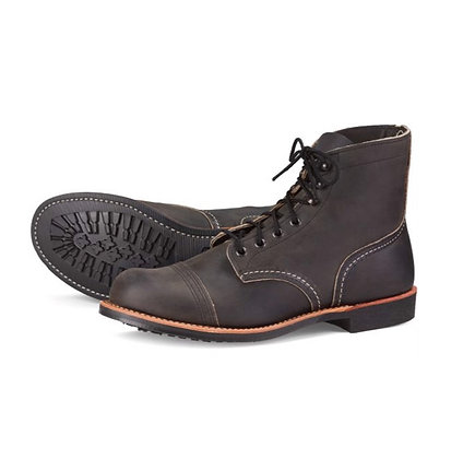RED WING 8086 Iron Ranger Charcoal Rough & Tough Boots