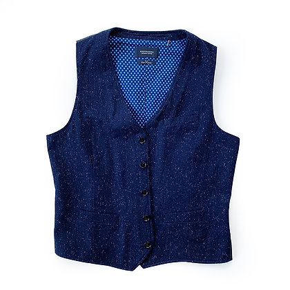 SCOTCH AND SODA BLUE DONEGAL VEST