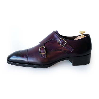 TOM FORD Double monk Strap Wine Shoes Size 11TT