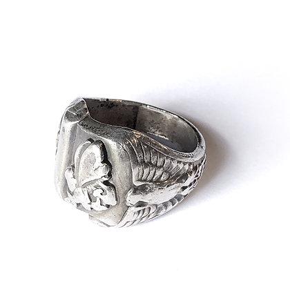 Vintage Sterling Silver Engraved Ring