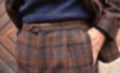 harris tweeds plaid mtm suit donegal cre