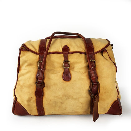 DOUBLE RL CANVAS AND LEATHER DUFFLE BAG