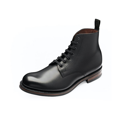 LOAKE 1880 HEBDEN BLACK LEATHER SHOE