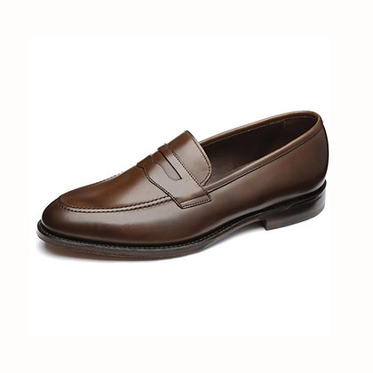 LOAKE 1880 Whitehall Brown Leather Loafers