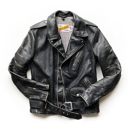 SCHOTT NYC CLASSIC VINTAGE BIKER LEATHER JACKET
