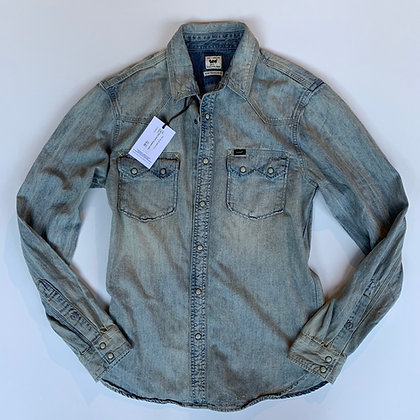 Lee Light Wash Denim Shirt Size M