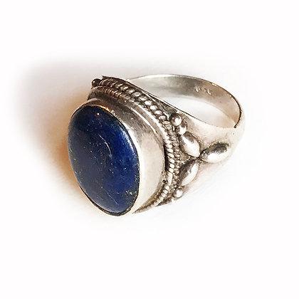 Lapis Lazuli sterling silver ring size 9