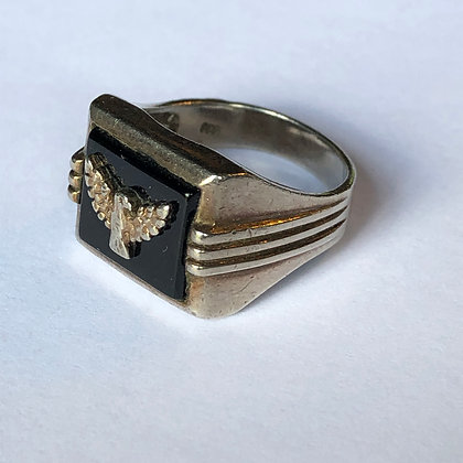 Phoenix Onyx Sterling Silver Ring