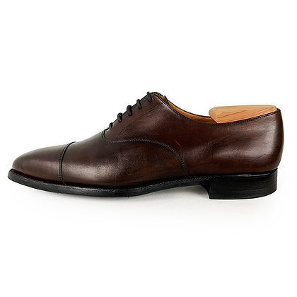 CROCKETT & JONES BROWN LEATHER HALLMAN CAP TOE SHOE