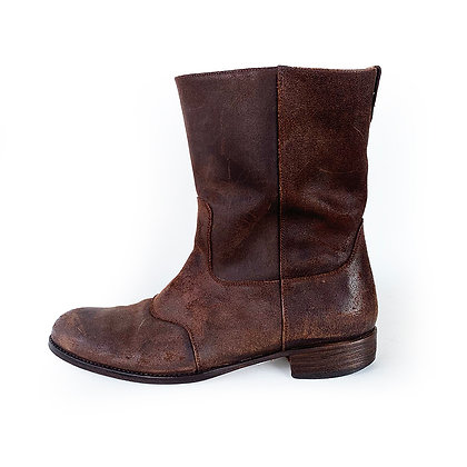 BILLY REID BROWN LEATHER ROPER BOOTS