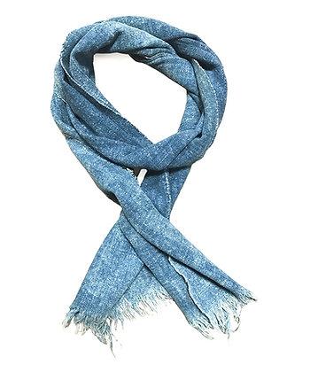 Original Vintage dark indigo cotton scarf