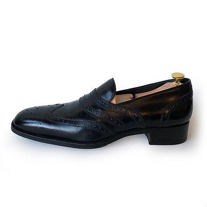 Tom Ford Black Brogue Wingtip Loafers