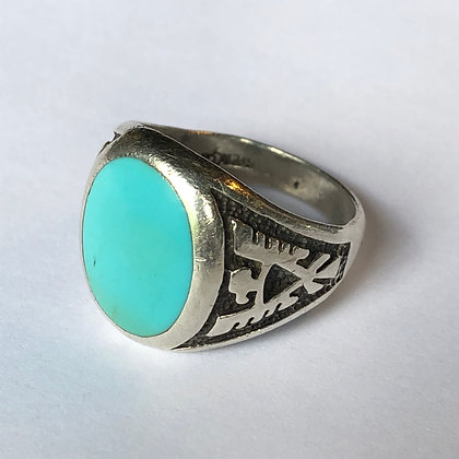 Vintage Turquoise Sterling Silver Navajo Ring