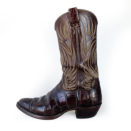 ORIGINAL VINTAGE NOCONA  EXOTIC LEATHER BOOTS
