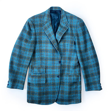 J.PRESS BLUE TWEED BLAZER