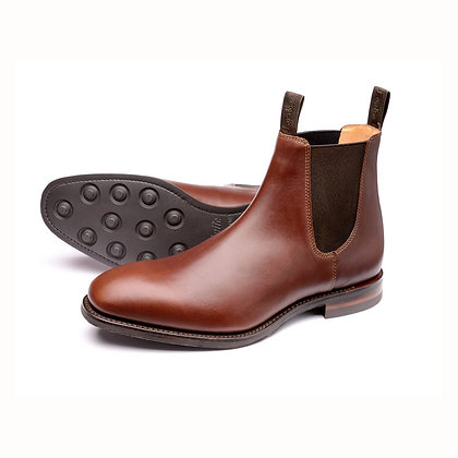 LOAKE 1880 CHATSWORTH Brown Leather Chelsea Boots