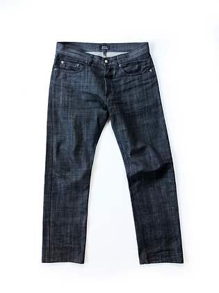 APC NEW STANDARD GRAY BLACK DENIM JEANS