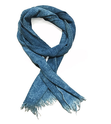 Original Vintage dark indigo cotton scarf