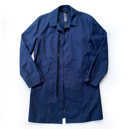 RAG & BONE WATER PROOF NAVY RAIN OVERCOAT