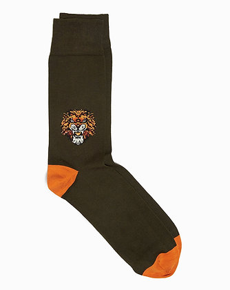CORGI Cotton Blend LION socks made in Wales UK