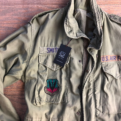 Original Vintage Military jacket w/patches