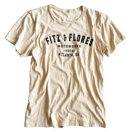 FITZ & FLORES MOTOWORKS T-shirt cream