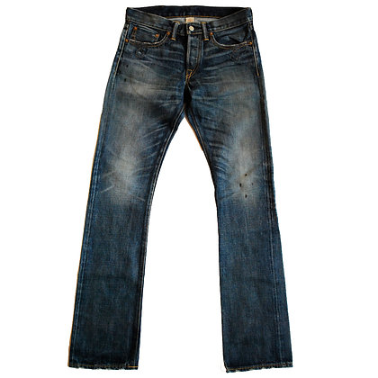 RRL faded denim selvedge jeans