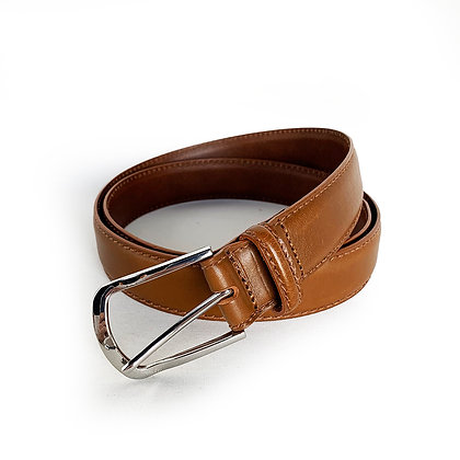 WALL AND WATER BROWN LEATHER BELT (MADE IN ITALY)